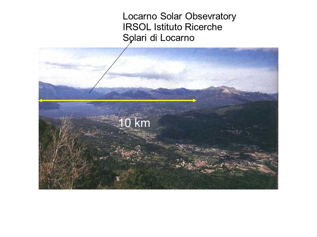 10 km Locarno Solar Obsevratory IRSOL Istituto Ricerche Solari di Locarno