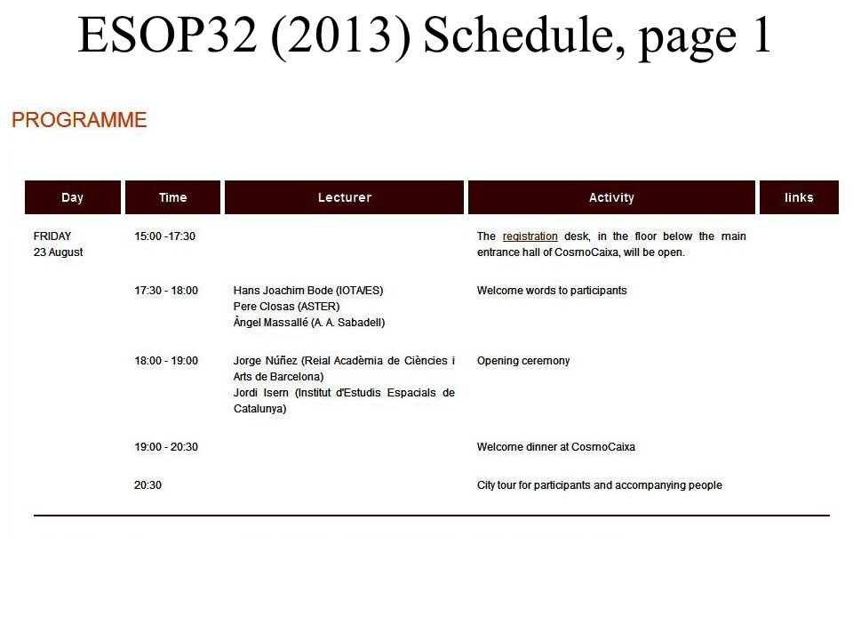 ESOP32 (2013) Schedule, page 2