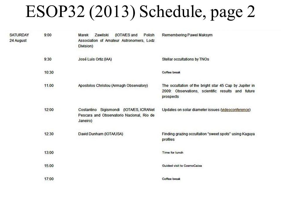 ESOP32 (2013) Schedule, page 3
