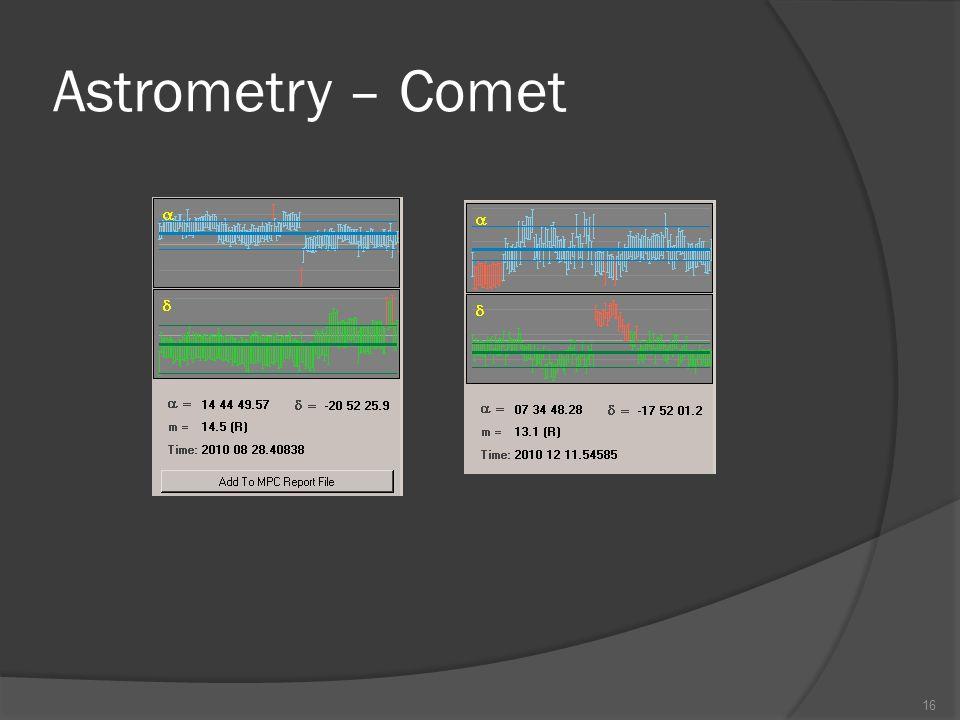 Astrometry – Comet 16