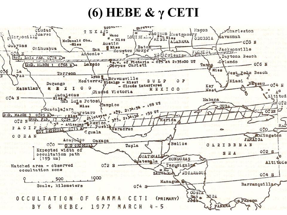 (6) HEBE & γ CETI