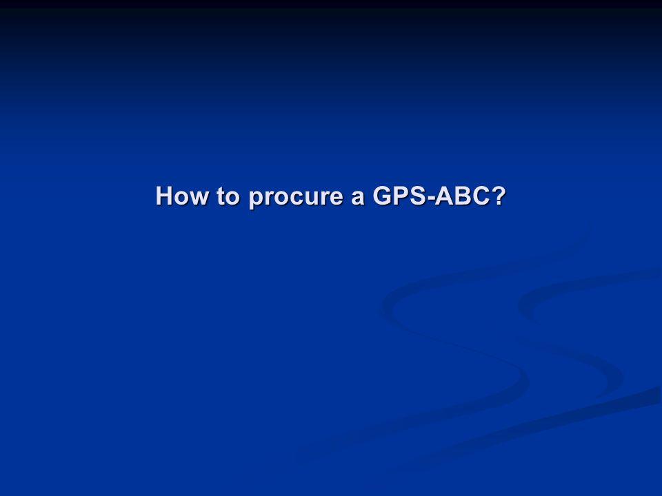 How to procure a GPS-ABC