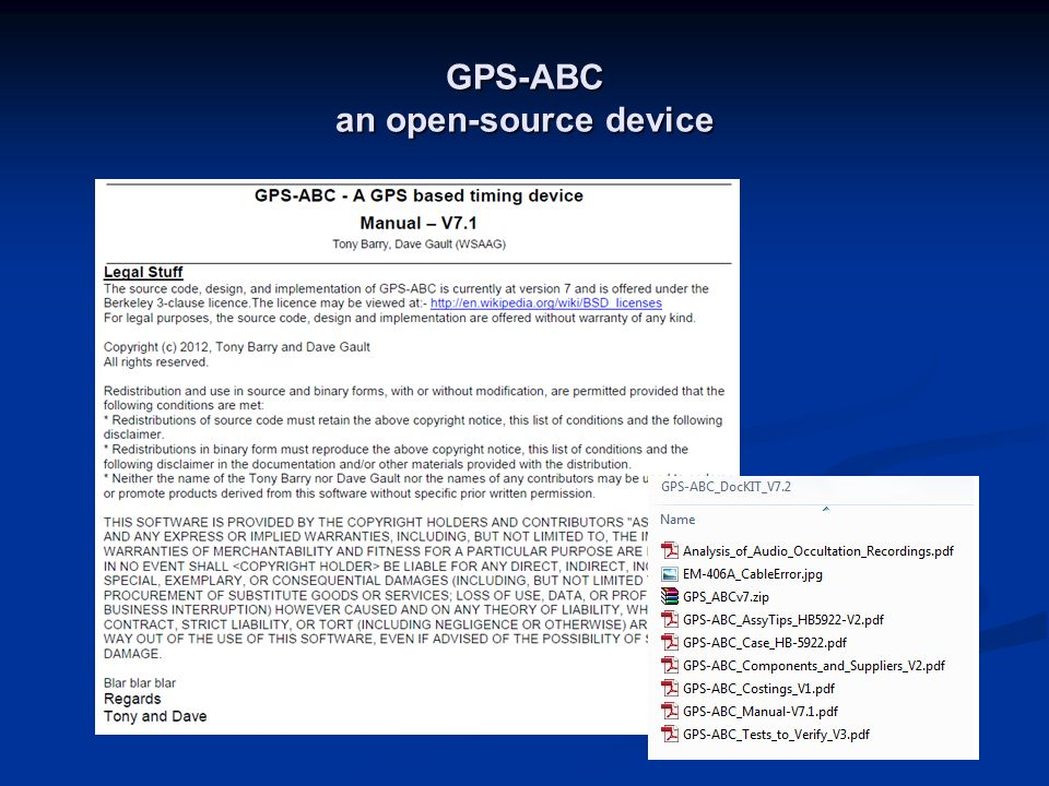 GPS-ABC an open-source device