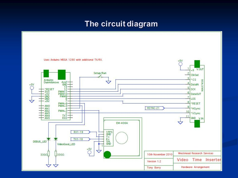 The circuit diagram