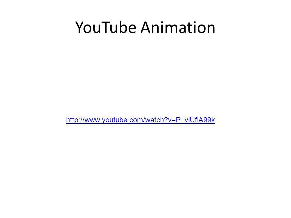 YouTube Animation http://www.youtube.com/watch v=P_vlUflA99k