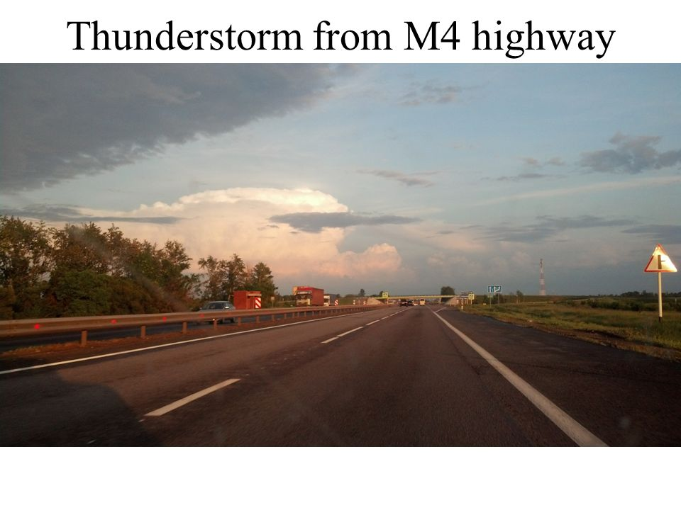 Thunderstorm from M4 highway