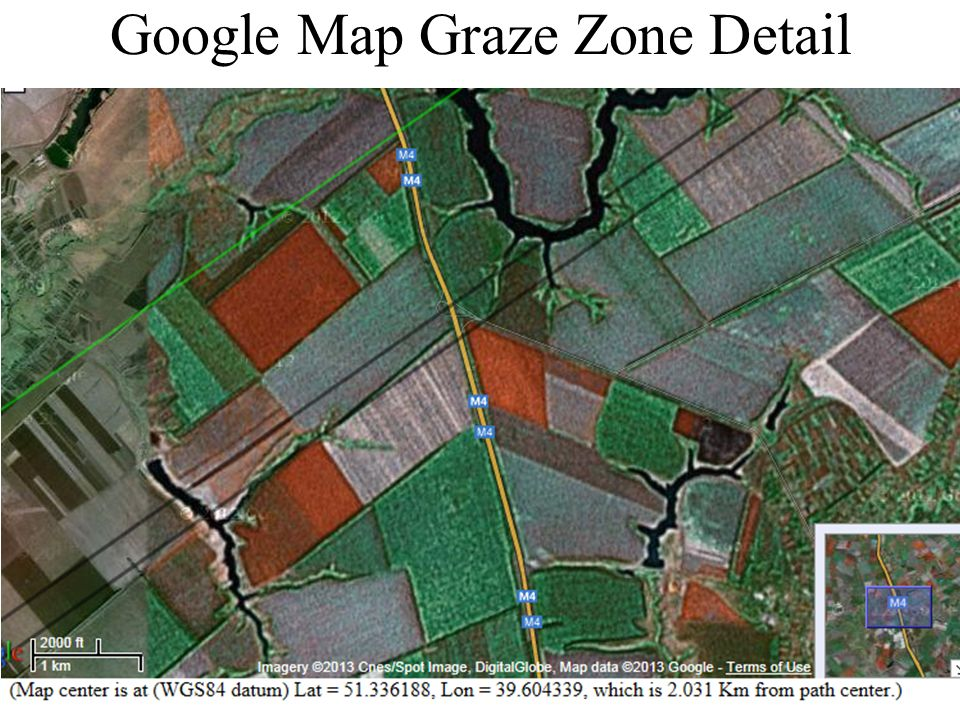 Google Map Graze Zone Detail