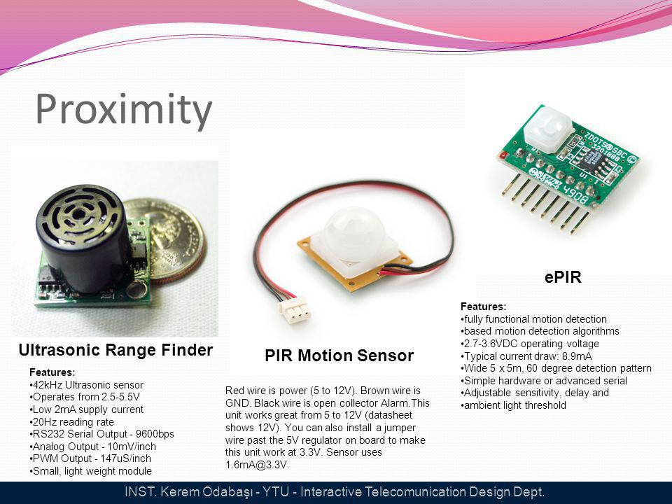 Proximity Ultrasonic Range Finder Features: 42kHz Ultrasonic sensor Operates from 2.5-5.5V Low 2mA supply current 20Hz reading rate RS232 Serial Outpu