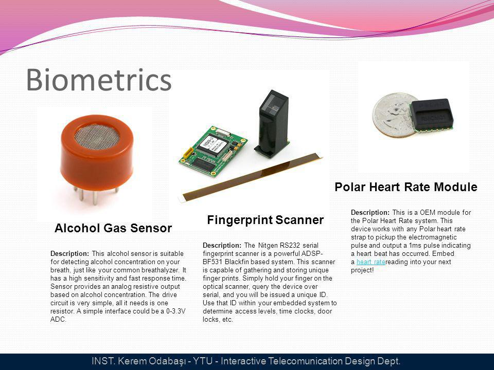 Biometrics Alcohol Gas Sensor Description: This alcohol sensor is suitable for detecting alcohol concentration on your breath, just like your common b