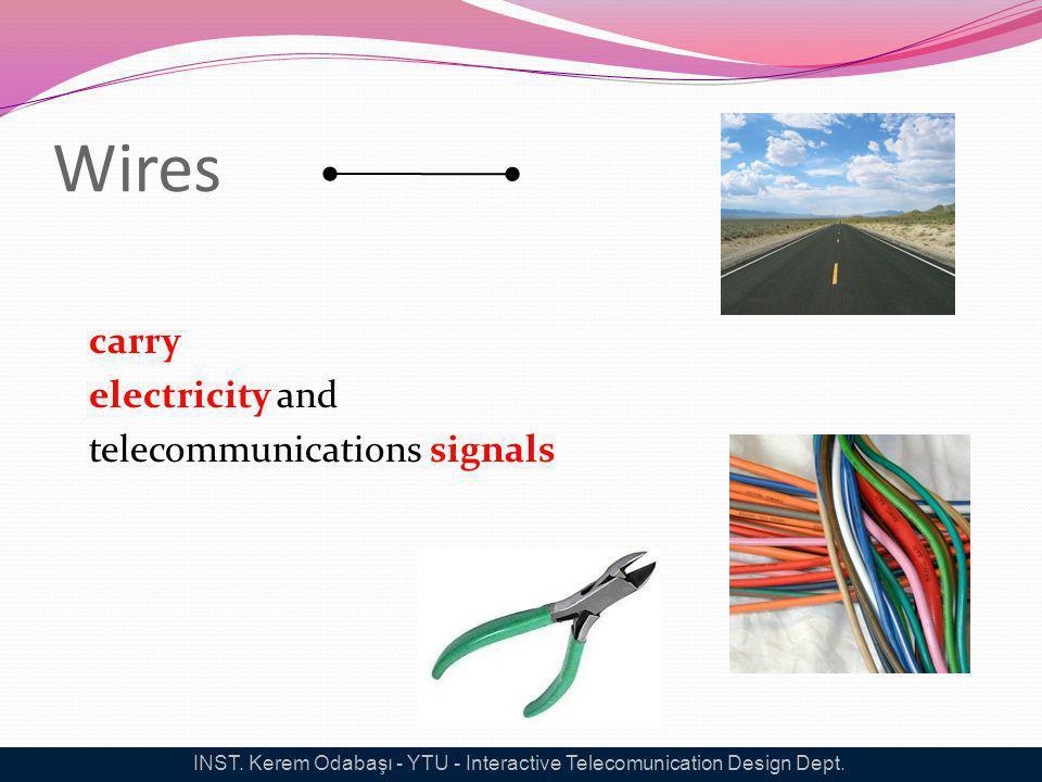 Wires carry electricity and telecommunications signals INST. Kerem Odabaşı - YTU - Interactive Telecomunication Design Dept.