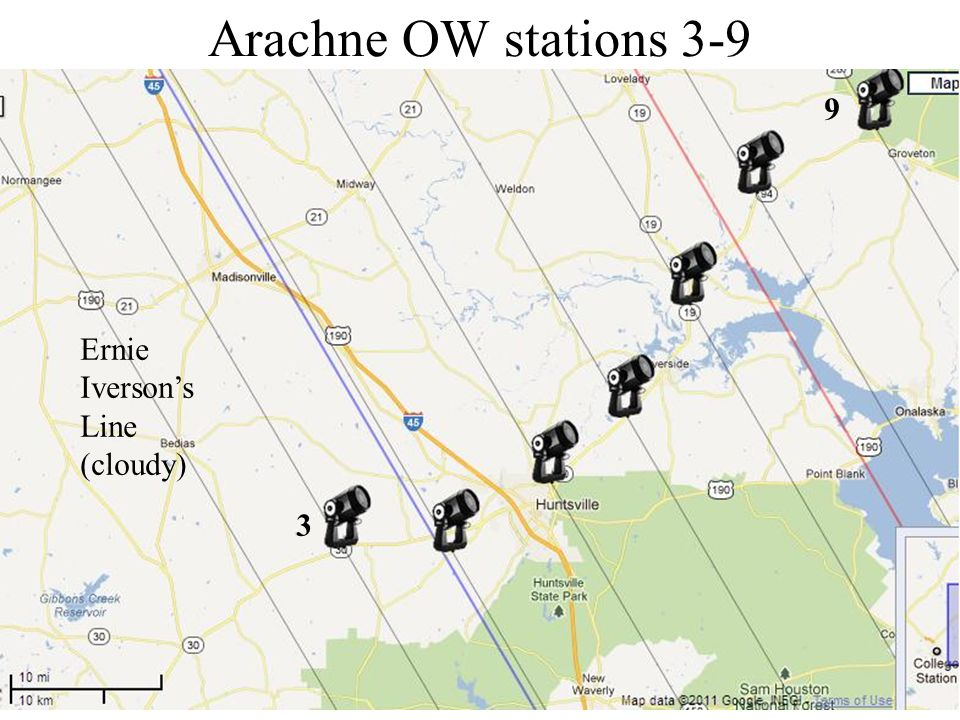 Arachne OW stations 3-9 3 9 Ernie Iversons Line (cloudy)