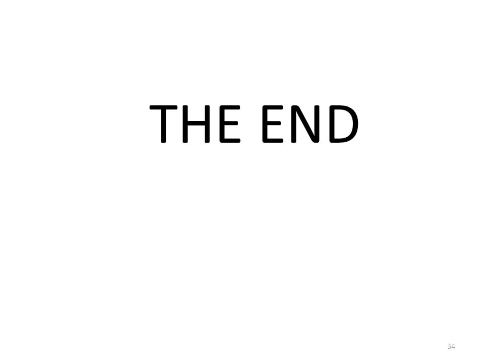 THE END 34