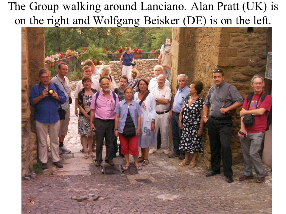The Group walking around Lanciano.
