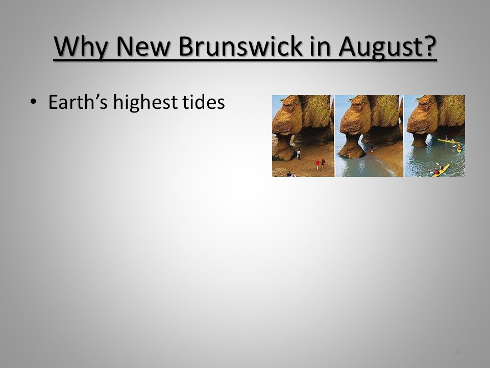 Why New Brunswick in August Earths highest tides 6