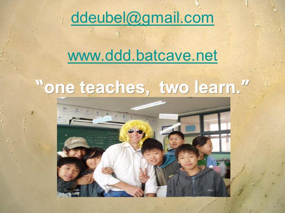 ddeubel@gmail.com www.ddd.batcave.net