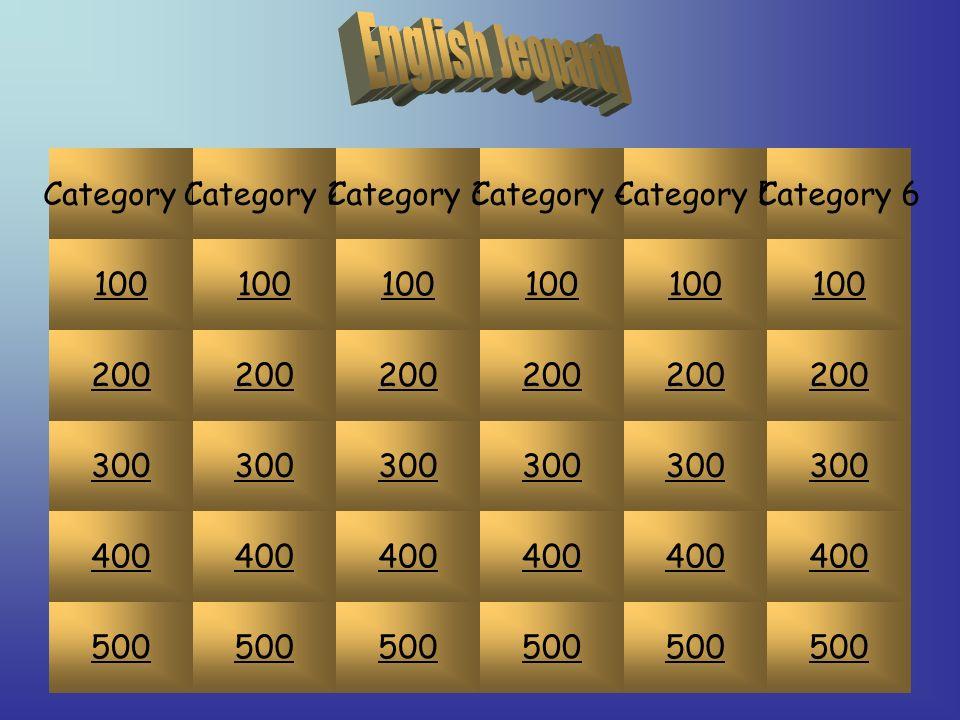 100 200 300 400 500 Category 1Category 2Category 3Category 4Category 5Category 6