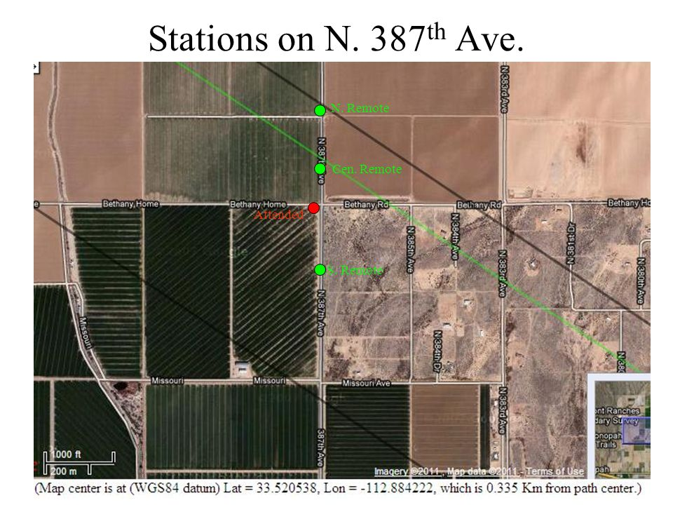 Stations on N. 387 th Ave. N. Remote Cen. Remote S. Remote Attended