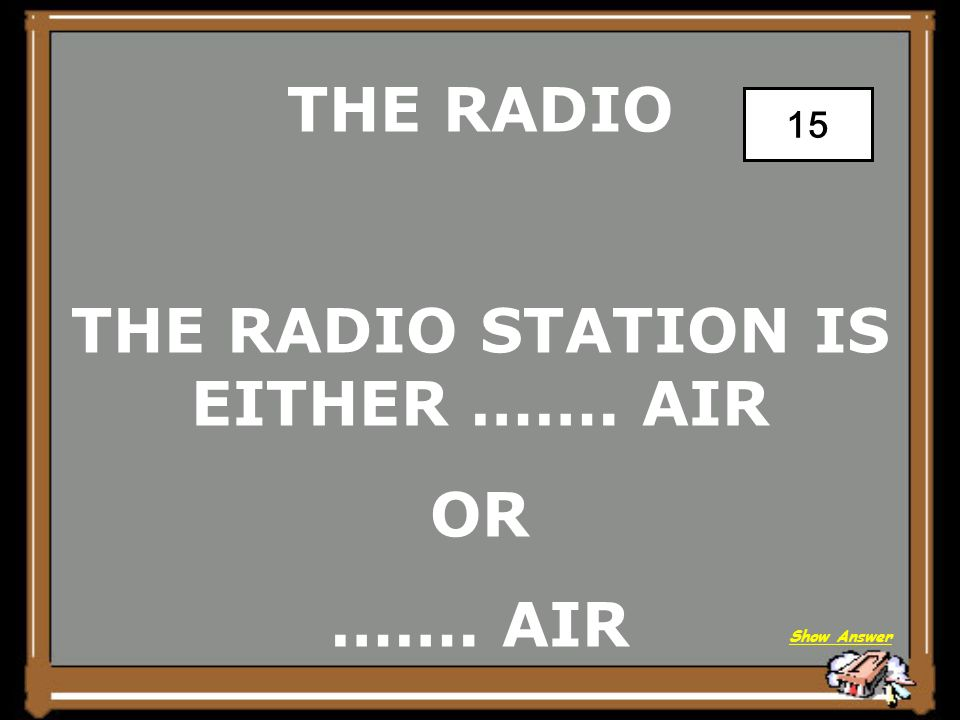 THE RADIO TUNE Back to Board 10