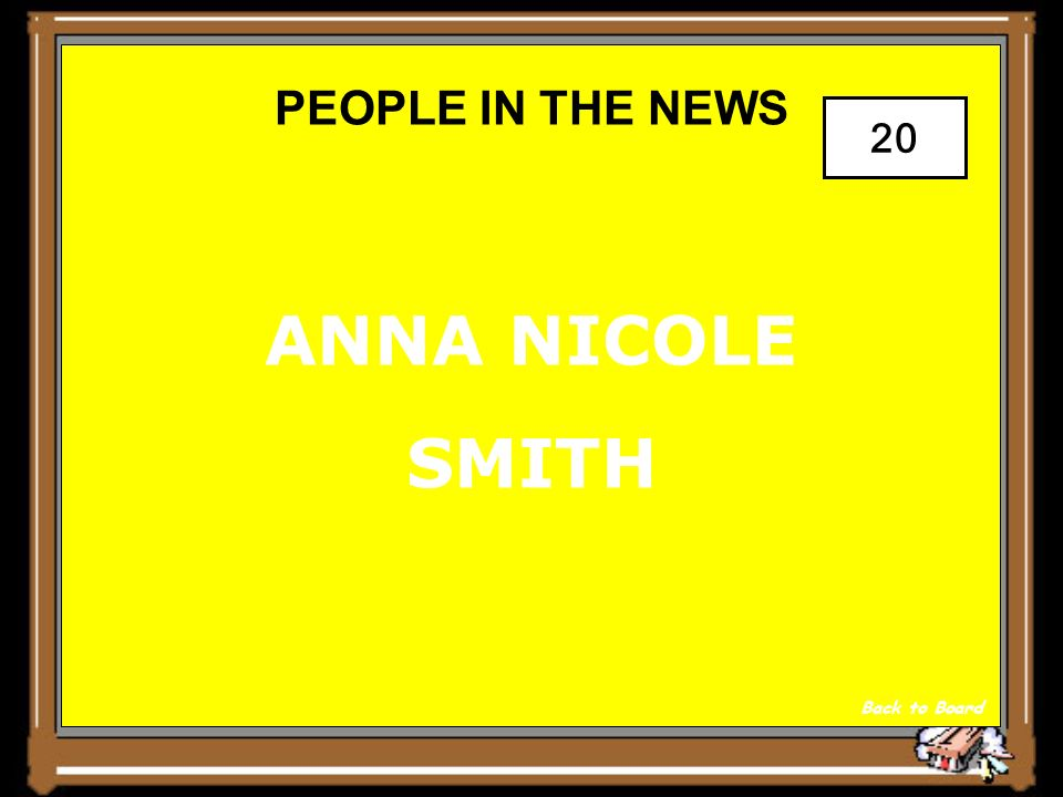 PEOPLE IN THE NEWS Show Answer 20