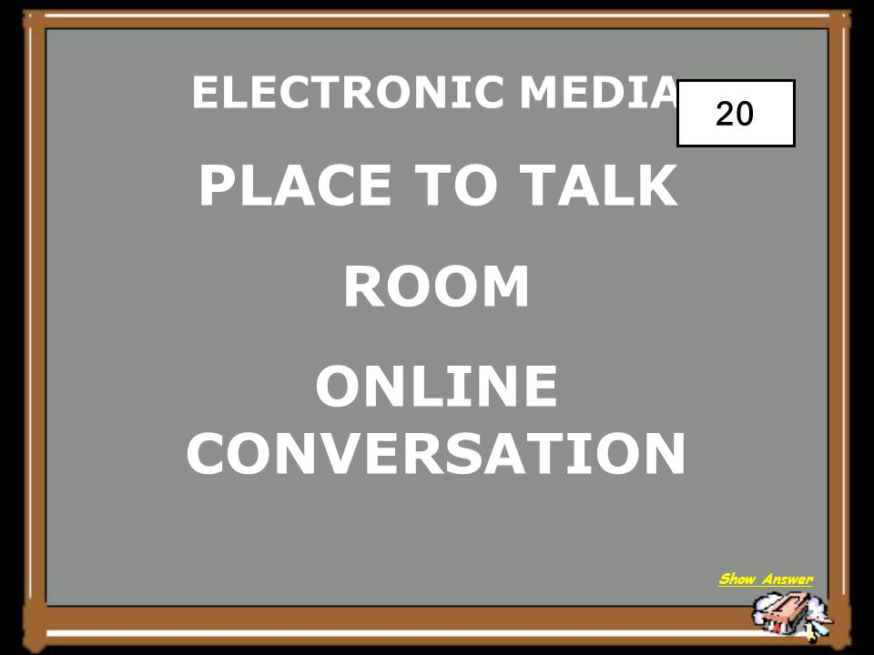 ELECTRONIC MEDIA A BLOG Back to Board 15