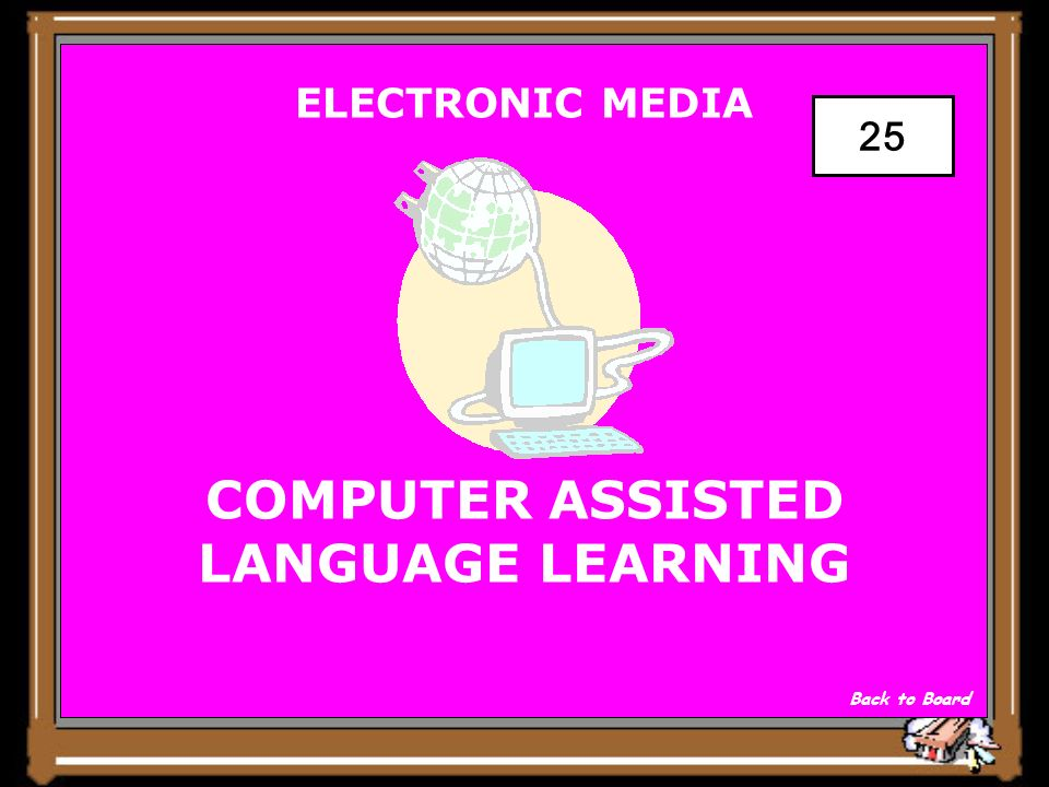 ELECTRONIC MEDIA C.A.L.L. HELPS STUDENTS LEARN ONLINE Show Answer 25