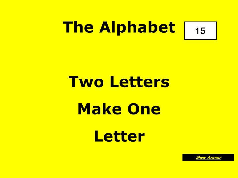 The Alphabet A E I O U And sometimes Y Back to Board F2
