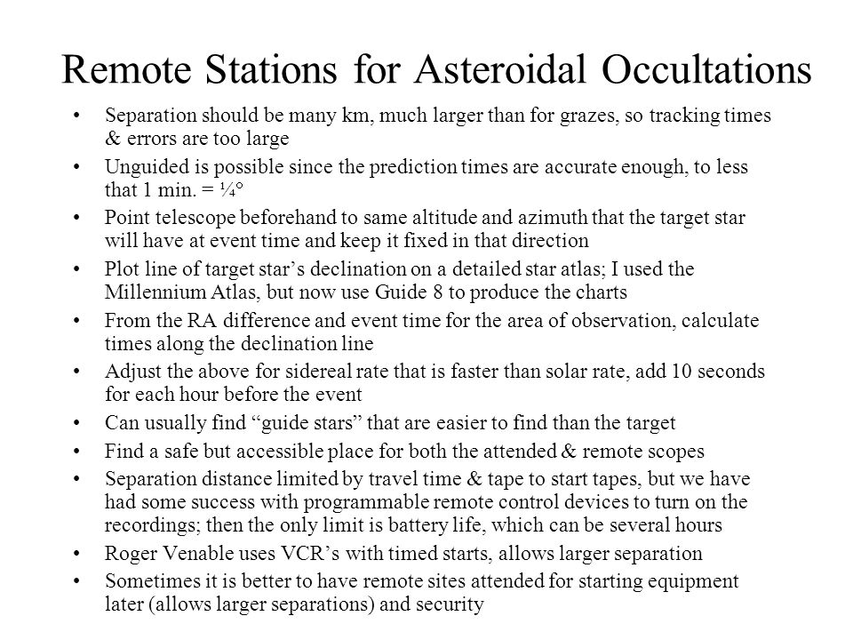 Occultation of the 6.0-mag.