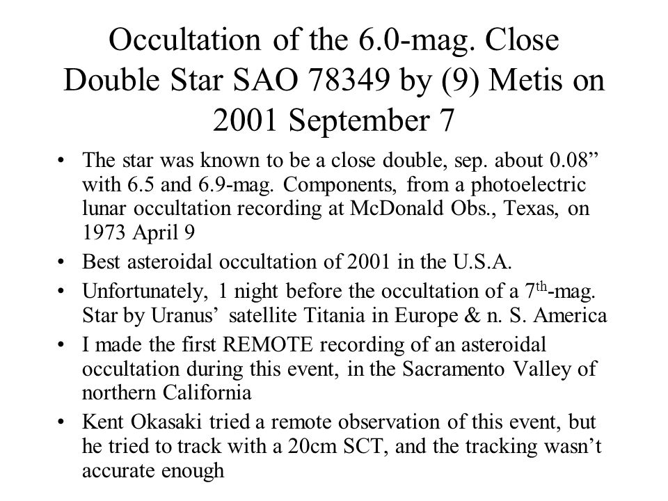 Joao Cruz unsaturated partial occultation light curve