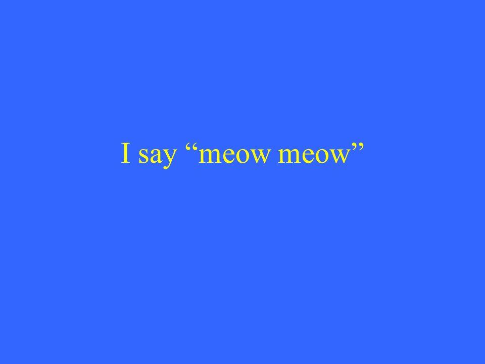 I say meow meow