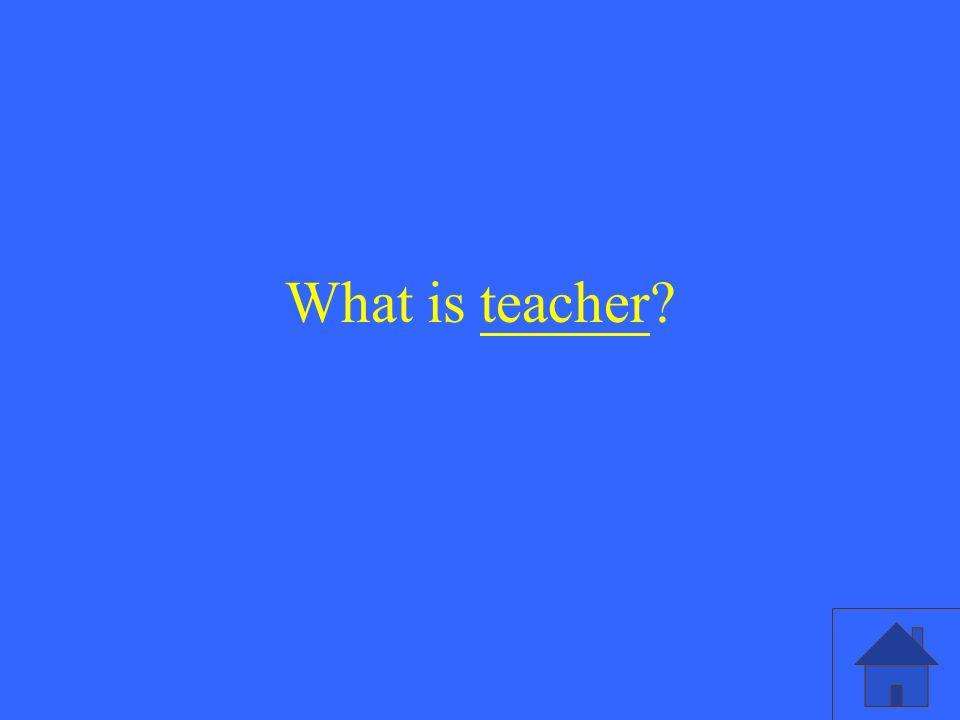 What is teacher