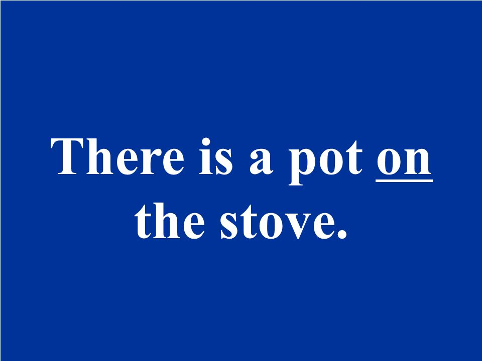 There is / pot