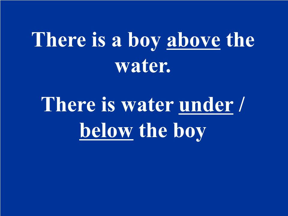 There is / boy
