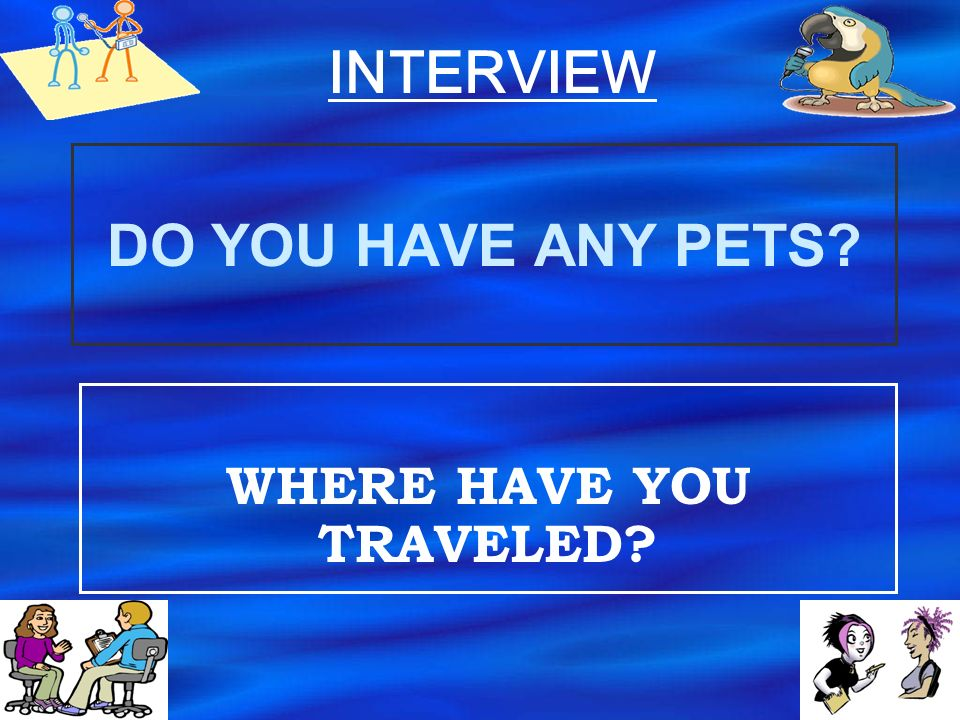 Do you live alone or with your family? Do you like your neighbourhood? INTERVIEW
