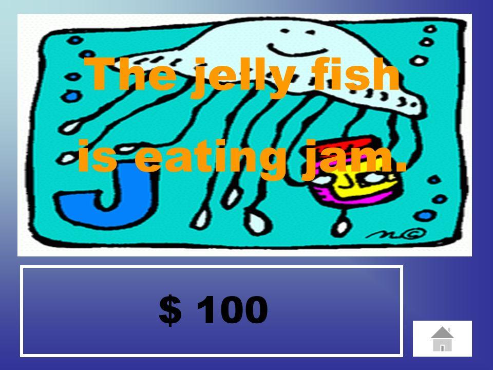 $ 100 The iguana is ice skaking.