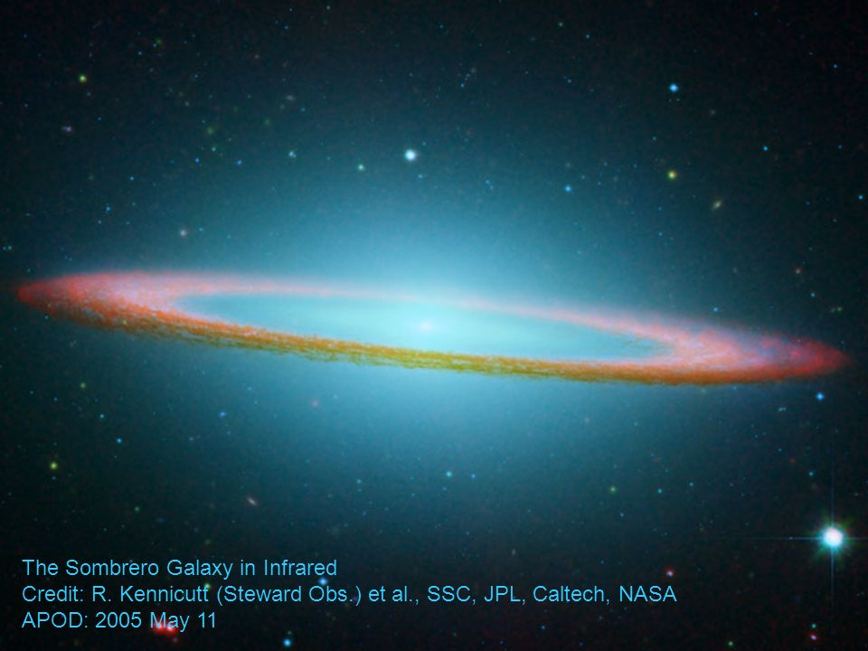 The Sombrero Galaxy in Infrared Credit: R.