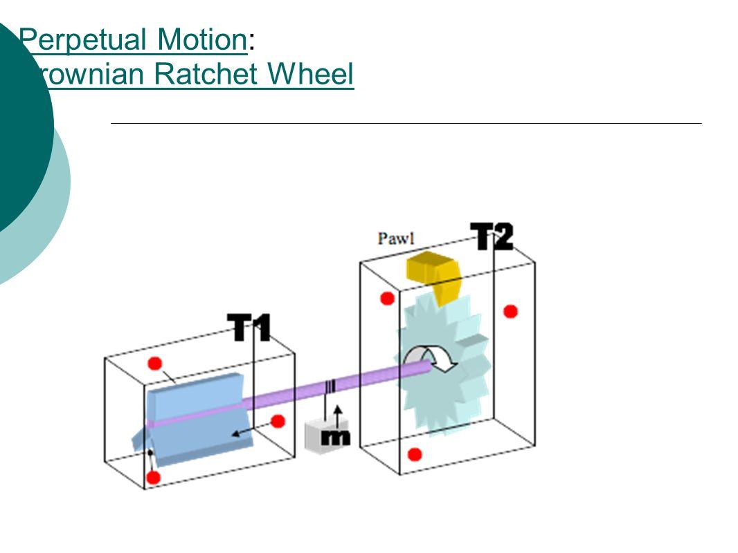 Perpetual MotionPerpetual Motion: Brownian Ratchet Wheel Brownian Ratchet Wheel