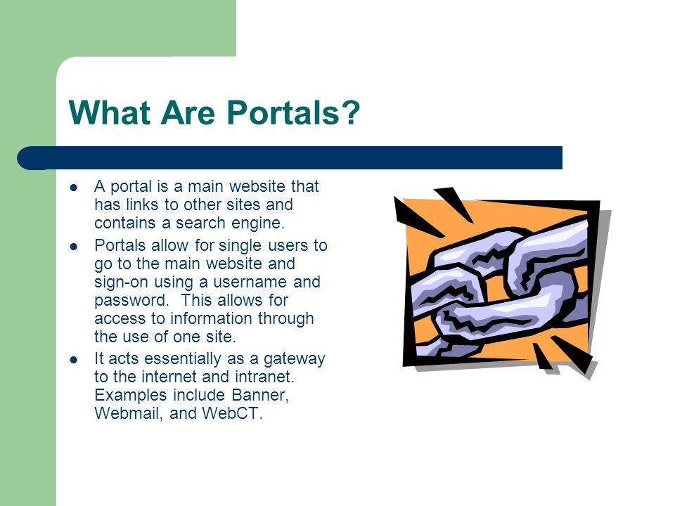 What technology-based systems need to be able to communicate using the portal.