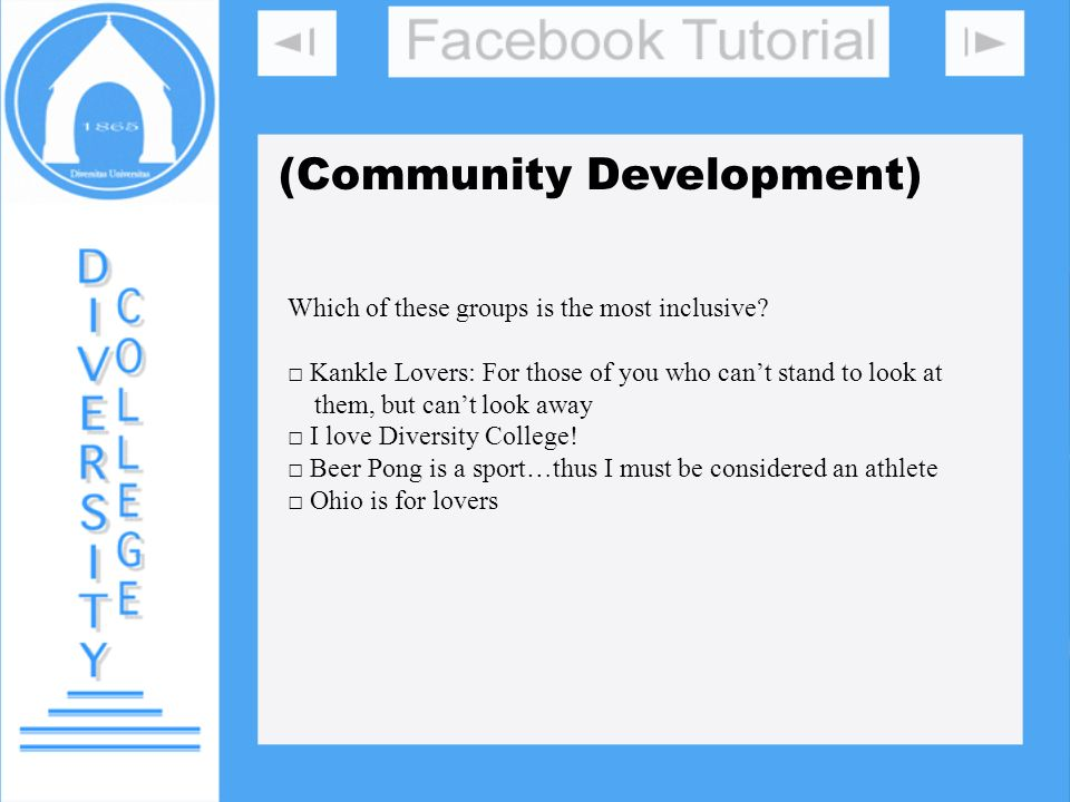 (Community Development) Which of these groups is the most inclusive? Kankle Lovers: For those of you who cant stand to look at them, but cant look awa