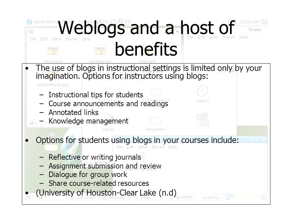 Weblogs and the issues that surround them The use of blogs in instructional settings is both empowering but has its draw backs.