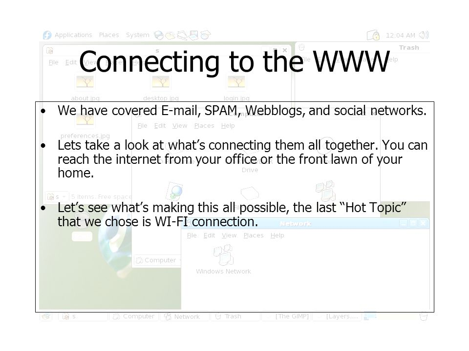 WI-FI the 5 th Hot Topic Our last Hot Topic revolves around Wi-Fi which is the ability to connect to the internet wirelessly.