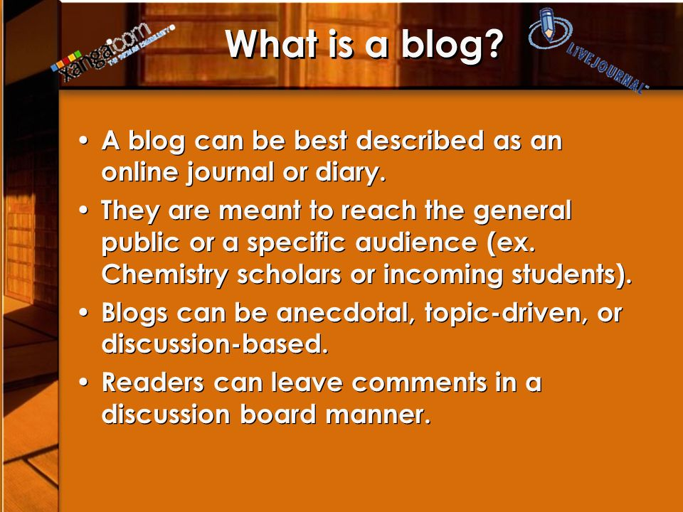 Why is blogging relevant.