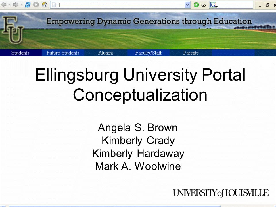 Ellingsburg University Portal Conceptualization Angela S.