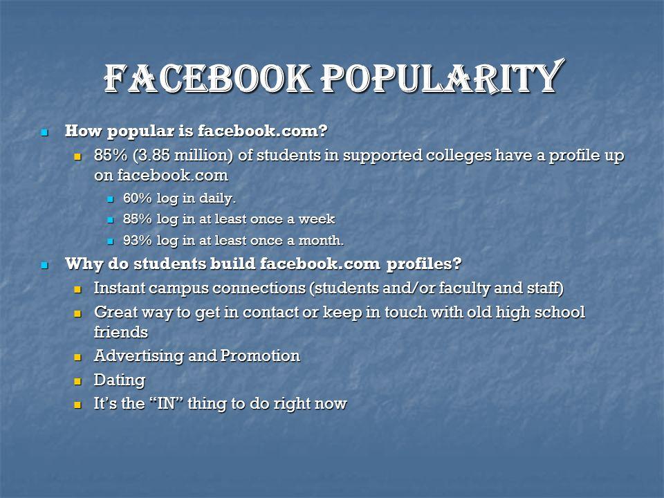 Facebook popularity How popular is facebook.com. How popular is facebook.com.