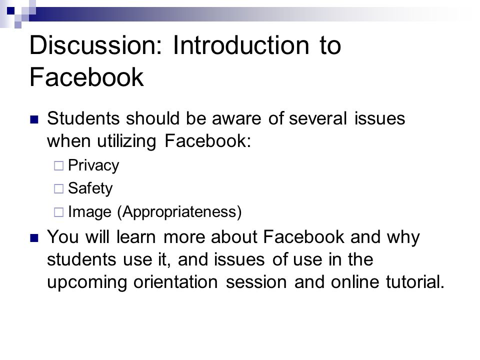 Online Tutorial: Materials and Preparation All current students, including new students who attended the Facebook orientation session, will be required to complete the online tutorial and pass the tutorial test.