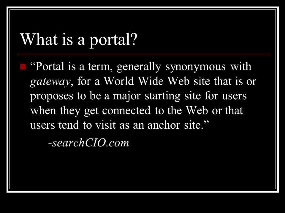 What is a portal.