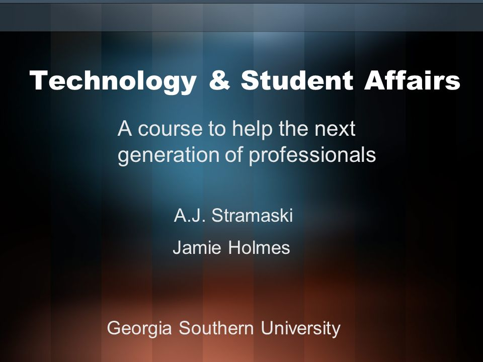 Week 10 Topic Description Understanding new technology available for todays Higher Education Institutions is essential for Student Affairs Administrators.