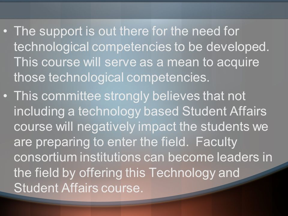 Week 2 Topic Description The goal of this topic is to introduce the graduate student to the various services that are being utilized by the Student Affairs Administrators to provide services for the students.
