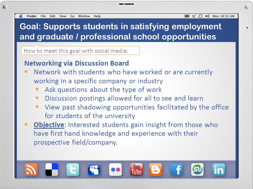 Career Experience via Discussion Board Q&A Event on Facebook Discussion Board, promoted via both Facebook and Twitter.