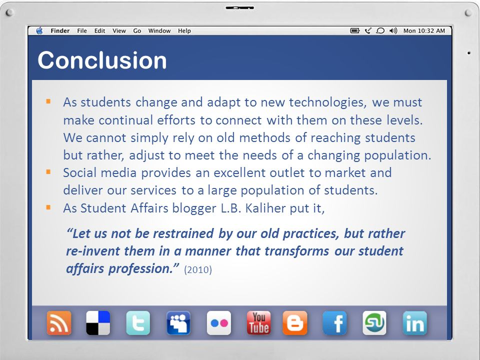 Potential Difficulties Information Overload: We must be wary of striking a balance between offering useful, beneficial information and overloading students with updates. Consistency: As information is updated, we must ensure that is accurate on the various sites and pages that we manage (i.e.