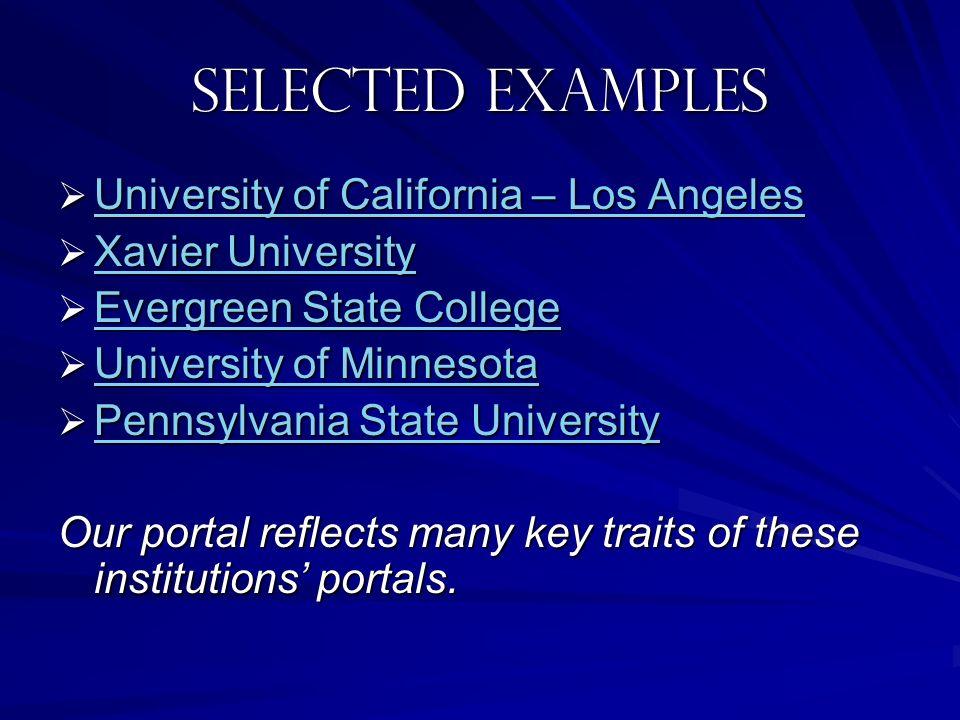 Selected examples University of California – Los Angeles University of California – Los Angeles University of California – Los Angeles University of C